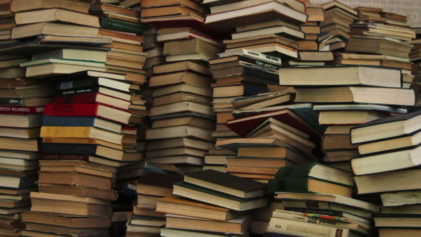 Stack of Books Scattered on the Floor in the Library   Shutterstock HD Video #19463155