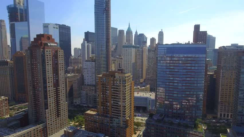 New York Skyscrapers aerial video