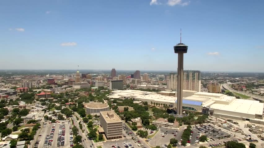 Aerial view of San Antonio skyline 2