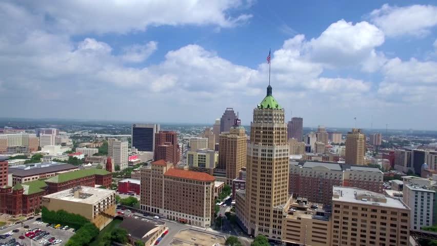Aerial view of San Antonio skyline 3