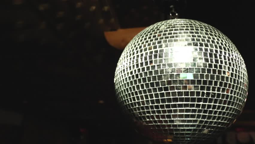 Isolated mirror sphere turning night club | Shutterstock HD Video #19547602
