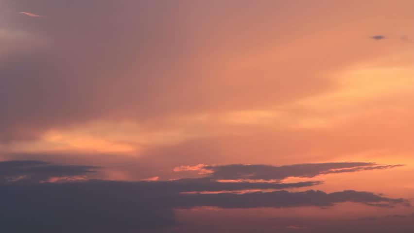 Colored twilight sky darkening on time #19583389