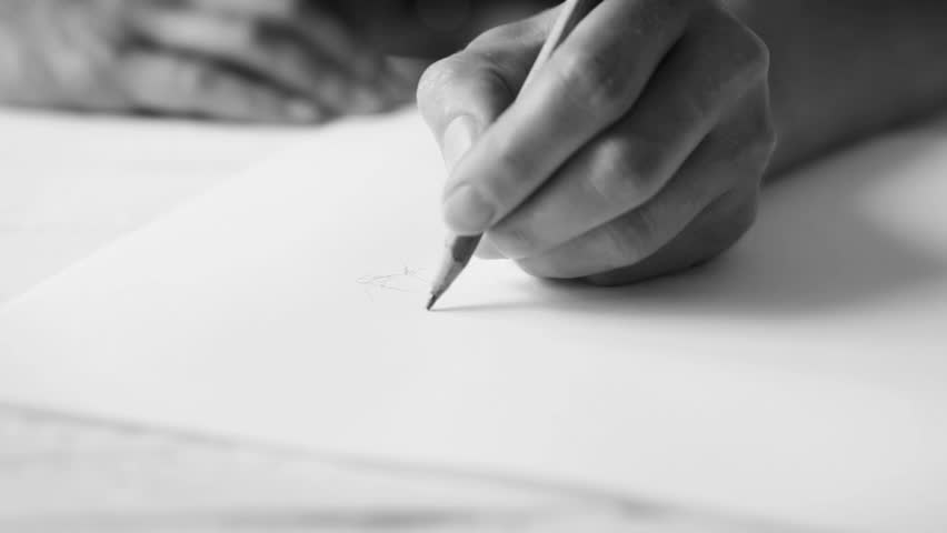 A Womans Hand Drawing Something Stock Footage Video (100% Royalty-free)  19603561   Shutterstock
