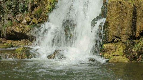 waterfall in the coal mine