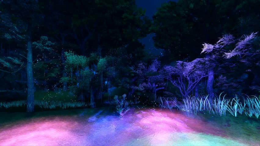 Computer graphics illumination forest