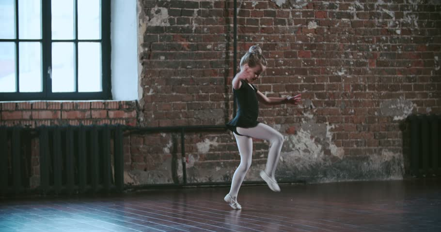 little girl dreams of becoming a ballerina, and makes no attempt to implement elements of the ballet