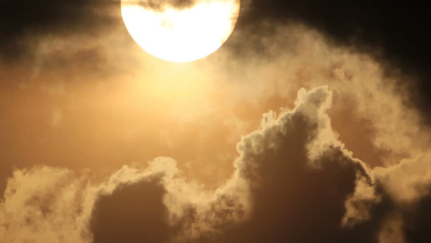 Clouds contours in sunlight of bright sun #19746409