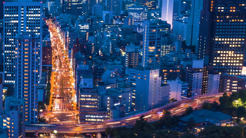 Tokyo Cityscape time-lapse from Tokyo Tower in Minato-ku | Shutterstock HD Video #19746955