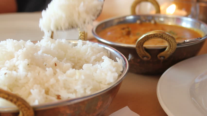 Indian food - rice - in a restaurant