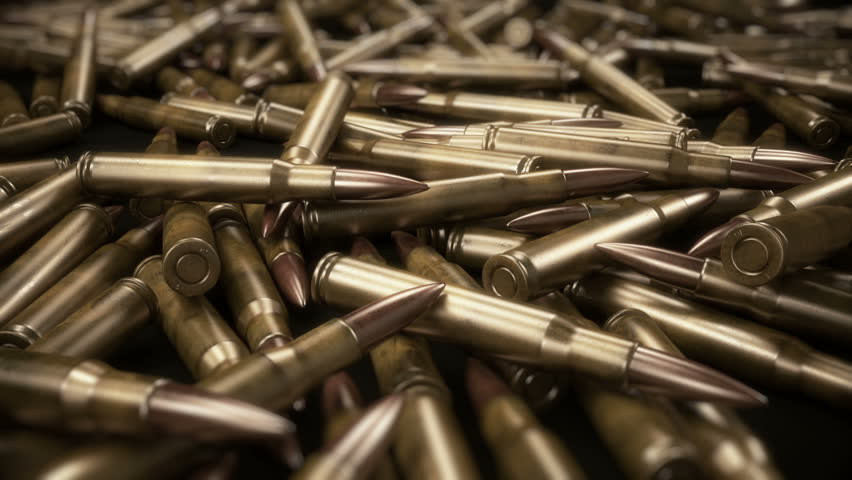 Trade In Weapons - Bullets Background 3D Animation