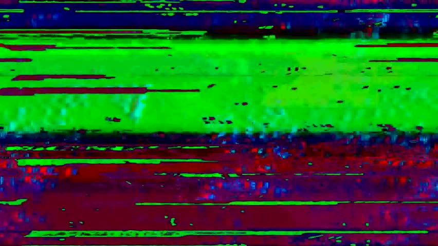 Flickering video signal interference and digital glitch
