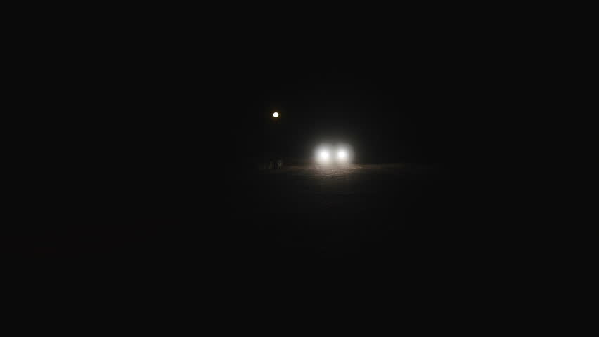 Airplane landing at landing strip shot from behind the plane car passing on dirt road at night shutterstock hd video 19862413 mozeypictures Gallery