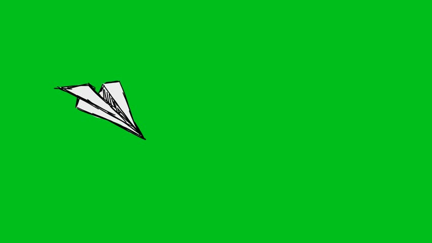 Hand-drawn animation on green screen
