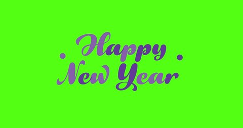 4 Animated Green Screen Text HAPPY NEW YEAR