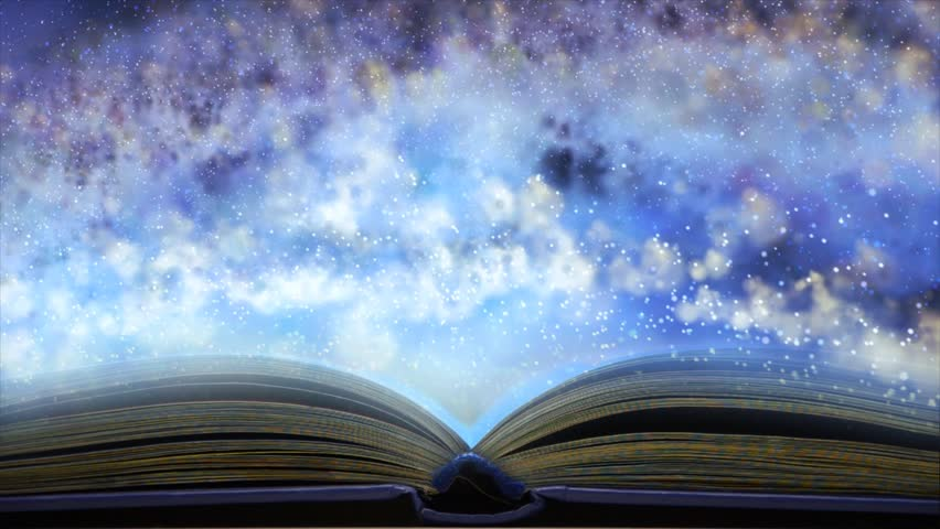 Book concept of space. Immerse yourself in reading a book | Shutterstock HD Video #19901893