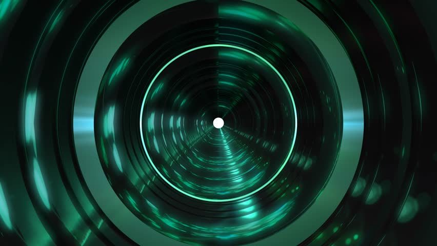 fantasy space tunnel fly through