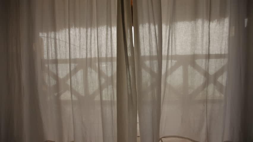 Curtain At Beachhouse