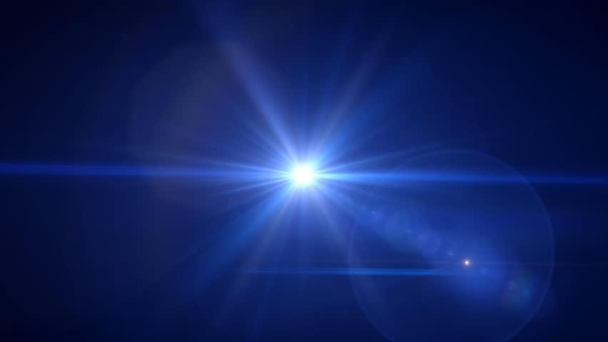Deep Blue Flare Rotate Stock Footage