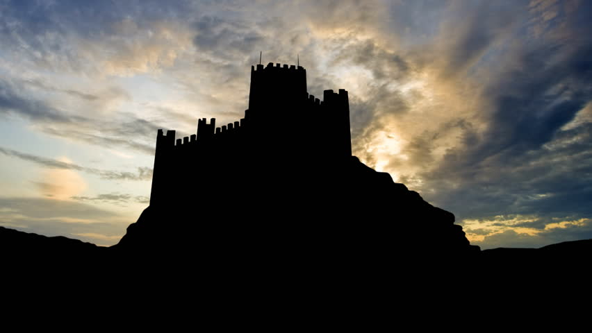 The Castle of Almourol is a medieval castle on a small islet in Tagus River, close to Vila Nova da Barquinha, in Portugal. The castle was used by the Knights Templar.     Shutterstock HD Video #1999052