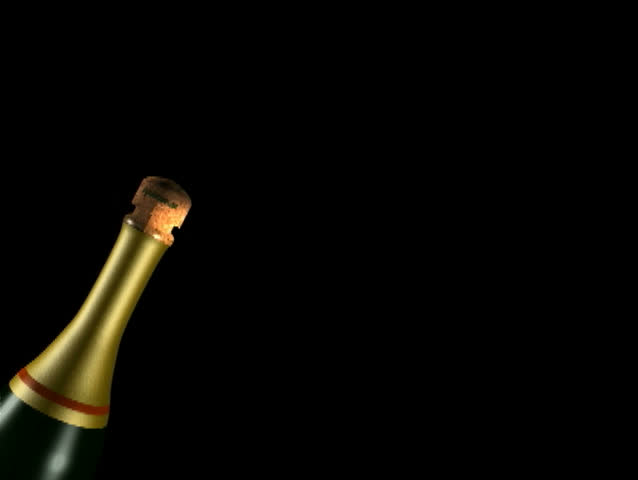 Cork popping out of champagne bottle #1999640