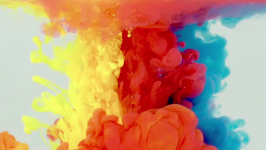 Underwater Yellow red blue Paint Smoke | Shutterstock HD Video #20003893