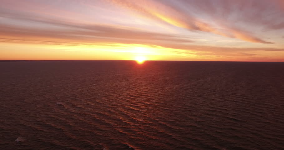 Landscape.Sunset over the sea. The video was filmed in 4K with drone. | Shutterstock HD Video #20014666