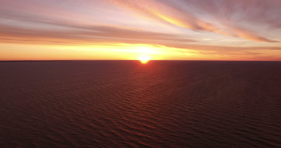 Landscape.Sunset over the sea. The video was filmed in 4K with drone. | Shutterstock HD Video #20014672