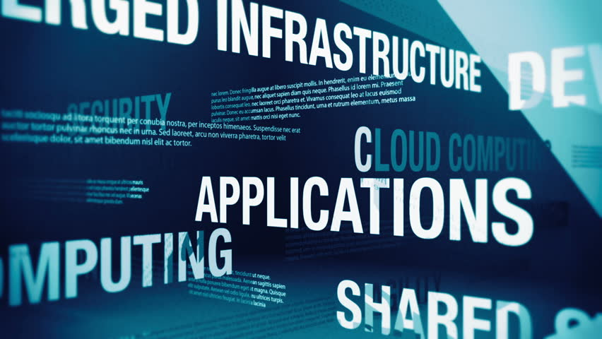Cloud Computing Related Terms Background Loop | Shutterstock HD Video #2005994