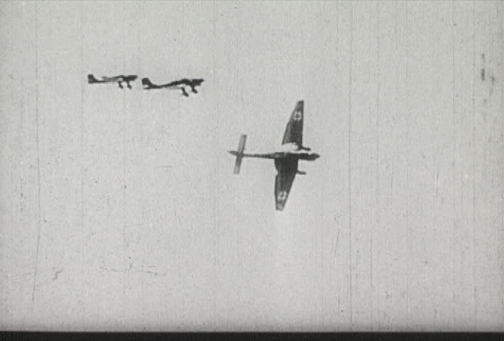 EUROPE - CIRCA 1942-1944: World War II, German Bombers Swoop for Attack