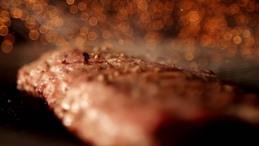 Cooking meat in slow motion | Shutterstock HD Video #20072674