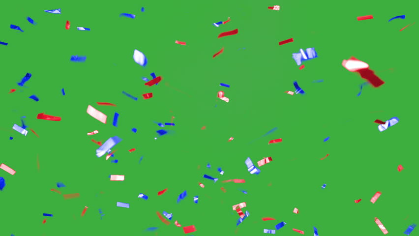 Real falling confetti in the colors blue and red for  advertising, family, club, victories, national or company celebration | Shutterstock HD Video #20073100