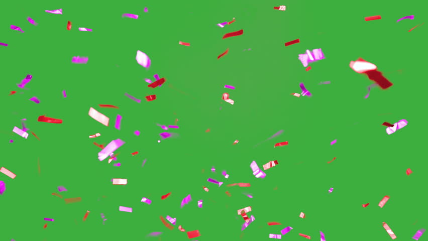 Real falling confetti in the colors magenta and red for  advertising, family, club, victories, national or company celebration | Shutterstock HD Video #20073109