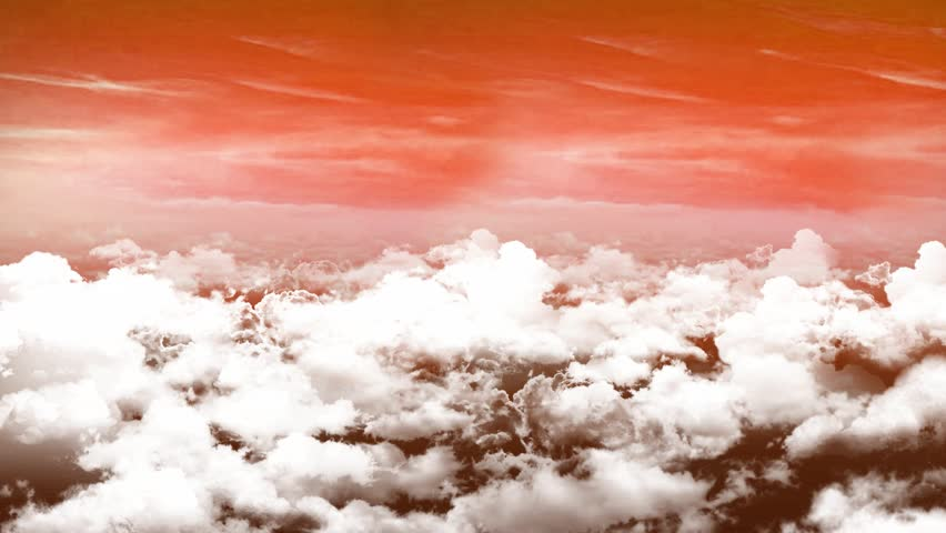 Seamless 3d animation of aerial view of cloudy sunset sky with clouds with camera moving in skyscape background in 4k loop  | Shutterstock HD Video #20073190