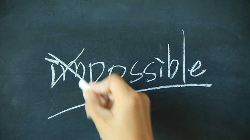 Chalk Writing - Impossible and Stock Footage Video (100% Royalty-free)  20098132   Shutterstock