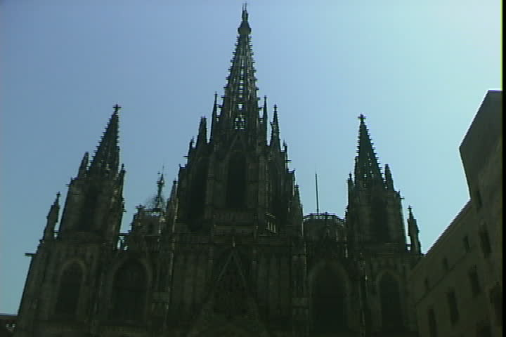 Cathedral tilts   Shutterstock HD Video #2010035