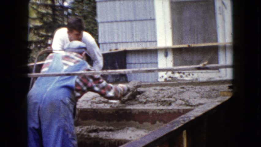 WAUCONDA, ILLINOIS 1960: a construction area beside a mud | Shutterstock HD Video #20136898