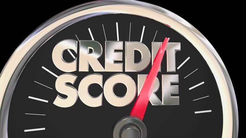 Credit Score Speedometer Better Improve Rating Number 3d Illustration