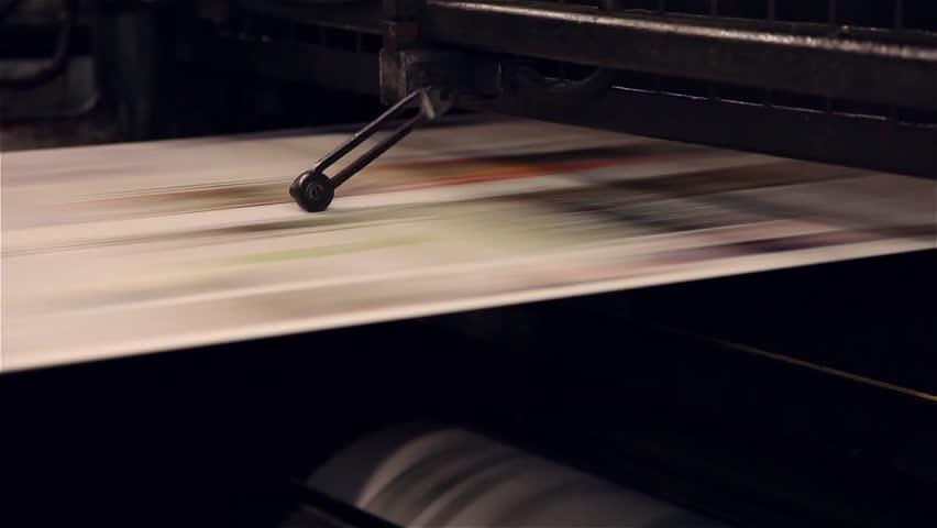 Newspaper being printed in printing press | Shutterstock HD Video #20238775
