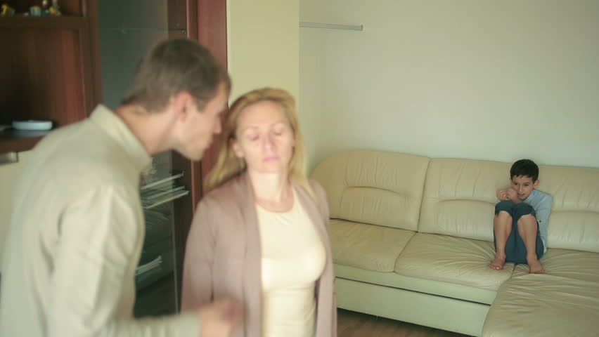 Parents quarrel with his son. mother and father arguing. stress in a child | Shutterstock HD Video #20255158