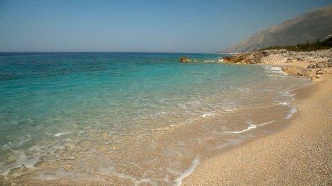 Ionian sea coastline in. Albania, near Saranda city