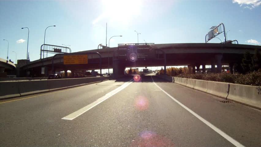 Driving under an overpass in Boston, MA | Shutterstock HD Video #2031841