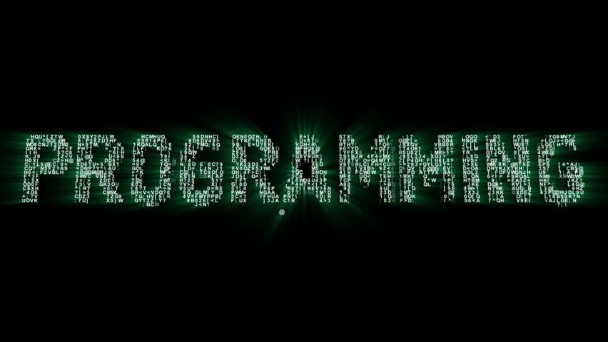 Programming Binary Code Intro Animation 2 | Shutterstock HD Video #20342443