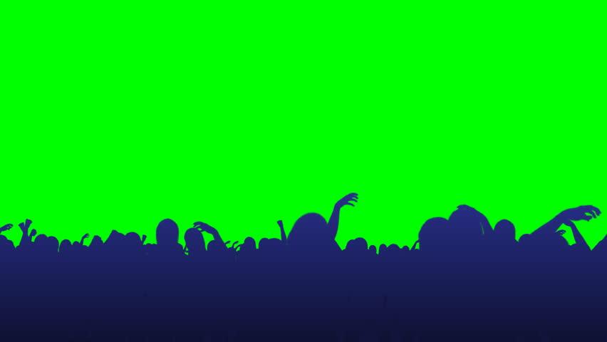 Crowd Flythrough - Green Screen | Shutterstock HD Video #2035000