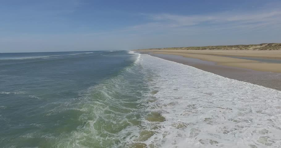 Wave on the Navy Beach located on the Atlantic coast  | Shutterstock HD Video #20355580