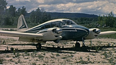 CANADA - 1962: piper aircraft before taking off in 1962 in Canada