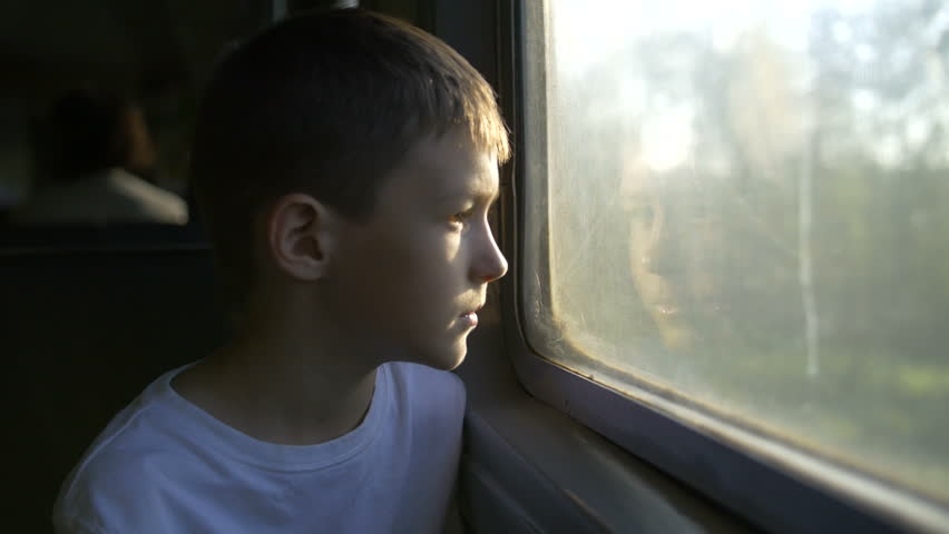Boy Looking Out Train Window Stock Footage Video 100 Royalty Free 20372224 Shutterstock