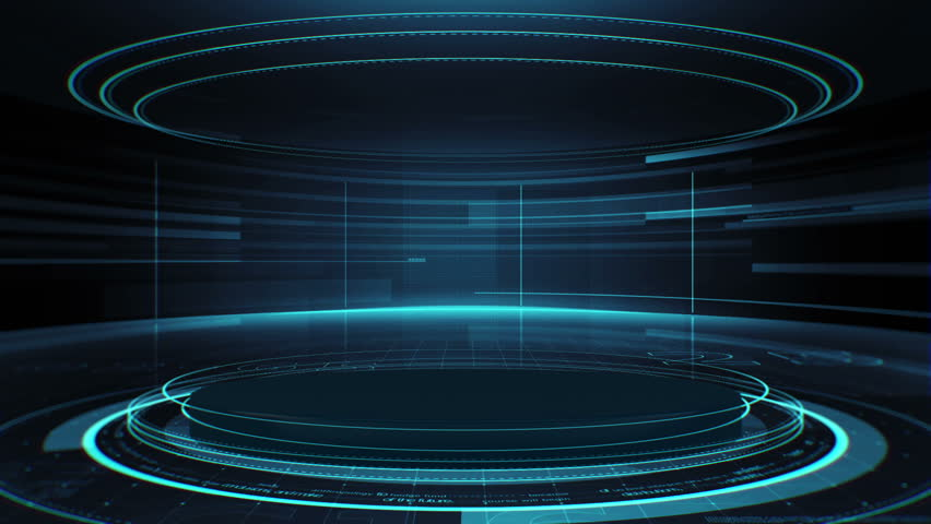 Futuristic interface with a stage in the center. Excellent for any kind of hi-tec, science, technology or futuristic concept Royalty-Free Stock Footage #20470519