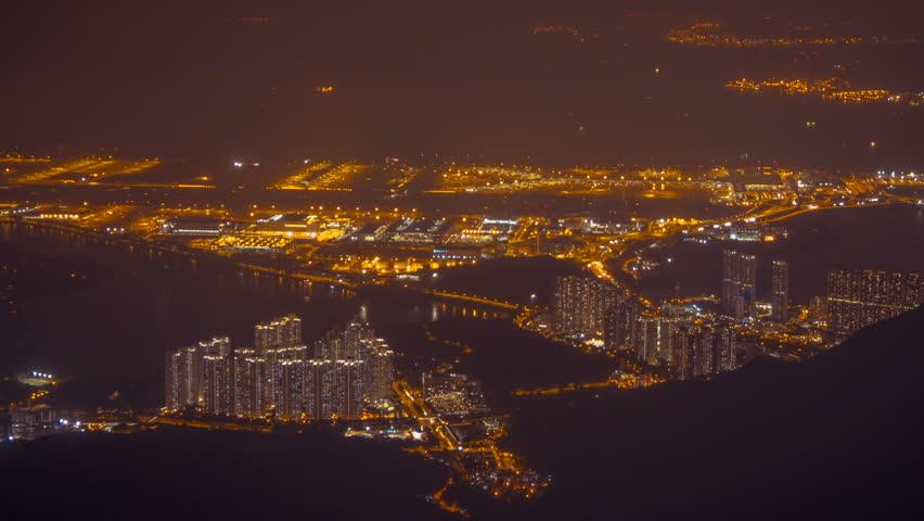 Hong Kong Airport at night 2 | Shutterstock HD Video #20490766