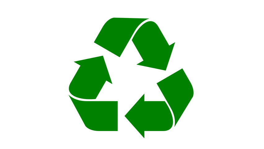 Universal Recycle Icon. Loopable Animation Stock Footage Video ...