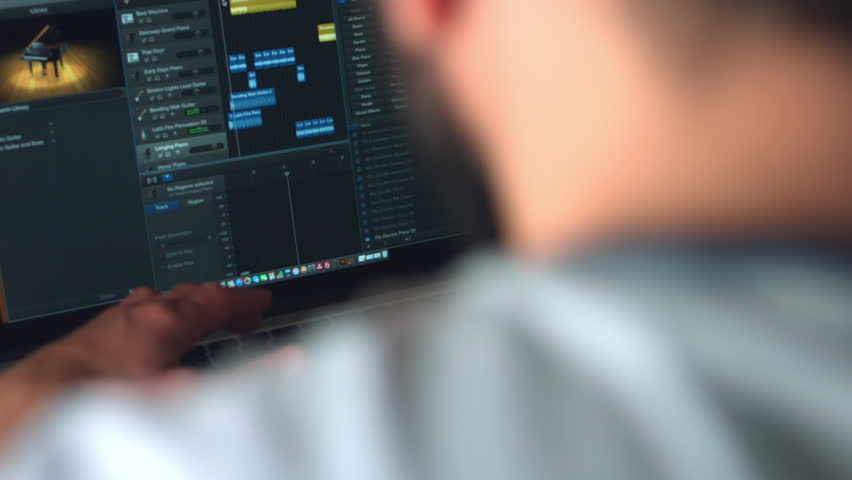 Freelancer Editor Working in Software Creating Music | Shutterstock HD Video #20504689